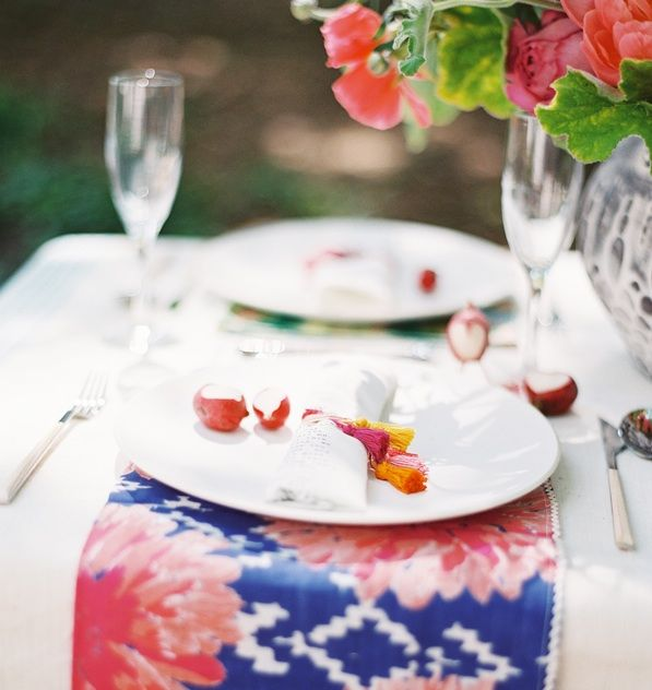 Tassel Wedding Place Setting Ideas