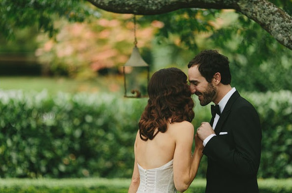 Great Gatsby Wedding Garden Ceremony Hopewood Country House