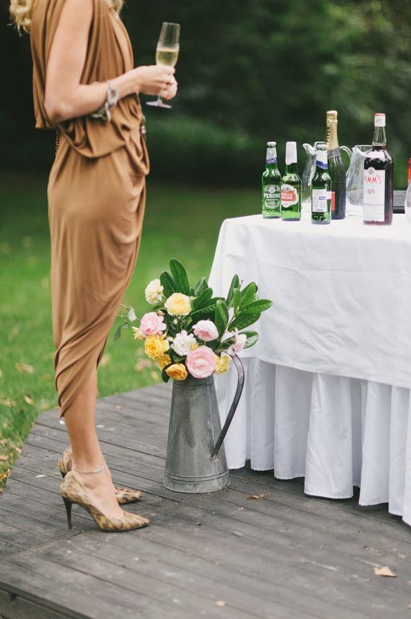 Great Gatsby Wedding Hopewood Country House Outdoor Garden Reception Bar