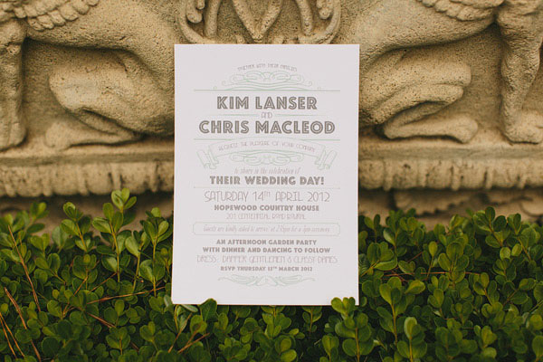 Great Wedding Invites: Elegant Great Gatsby Inspired Wedding