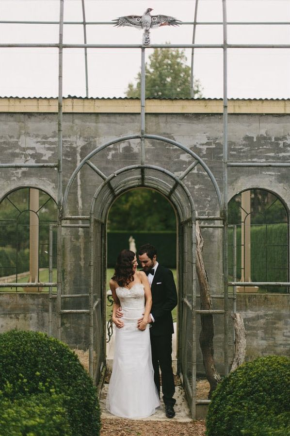 Great Gatsby Wedding Outdoor Garden Ceremony Hopewood Country House