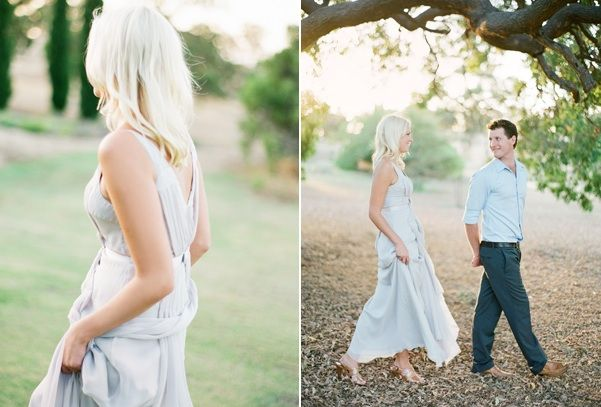 Jemma Keech Austalia Engagement Blue Dress