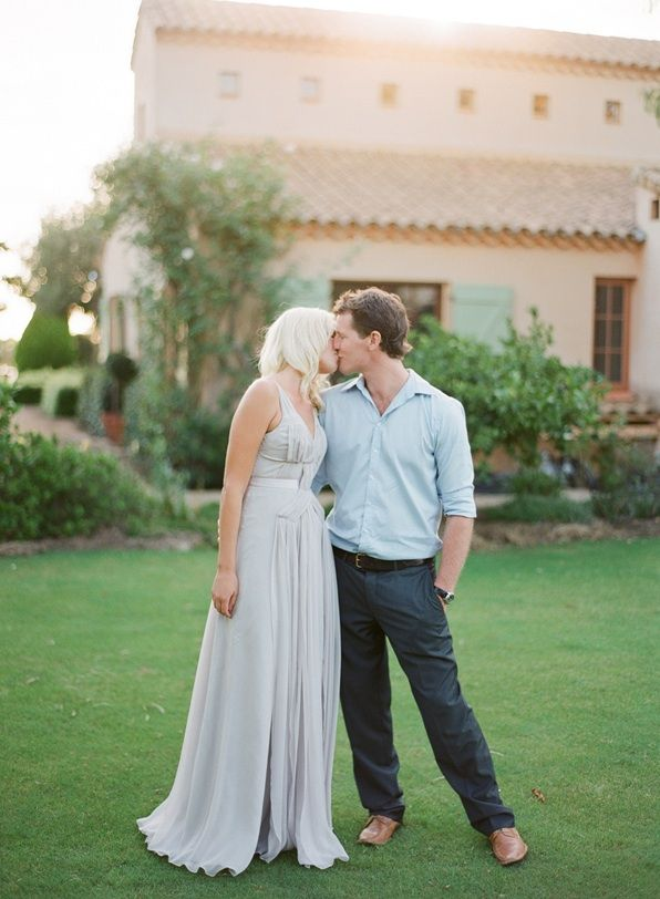 Jemma Keech Austalia Engagement Light Blue Dress Kissing
