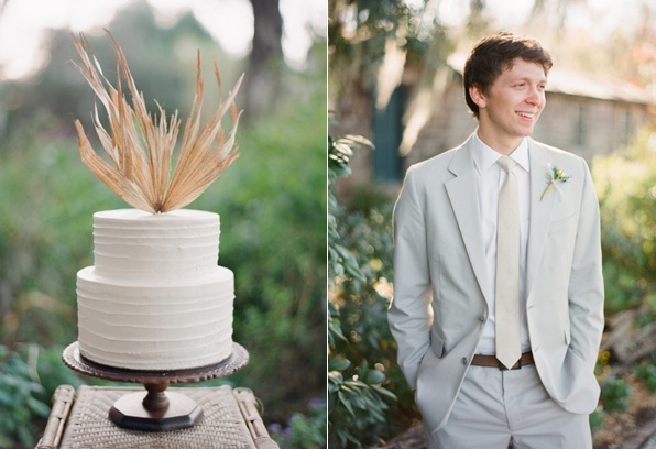 Magnolia Plantation Charleston Wedding Cake Groom