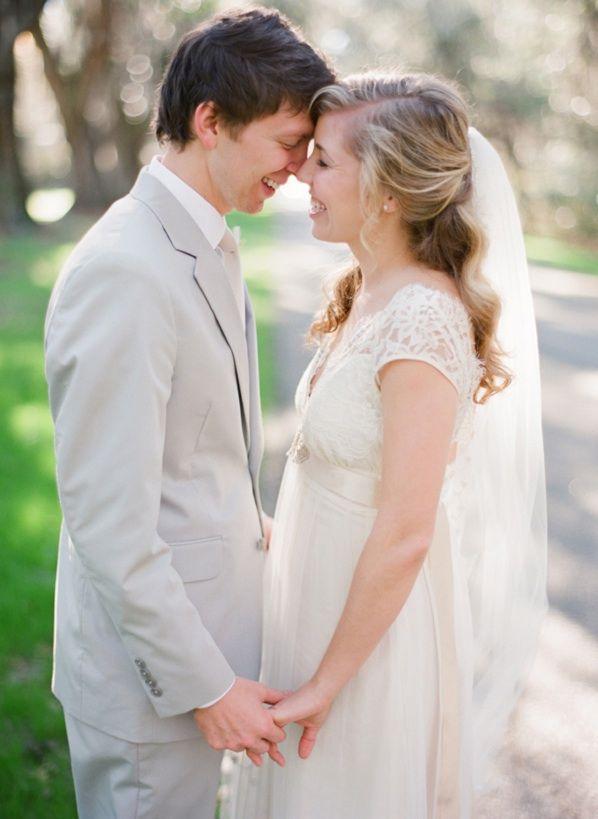 Magnolia Plantation Charleston Winter Wedding Bride Groom Claire Pettibone Dress
