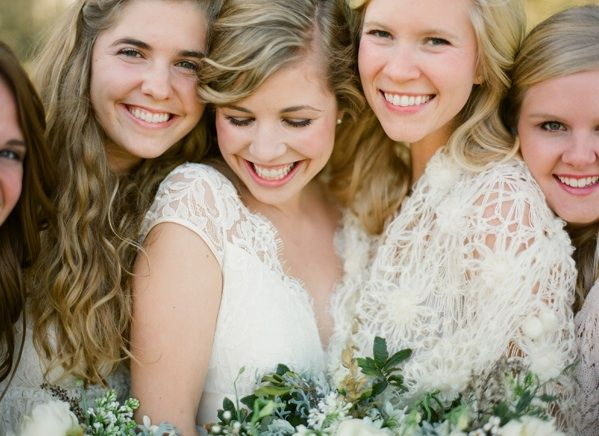 Magnolia Plantation Charleston Winter Wedding Lace Bridesmaid Shawls Dresses
