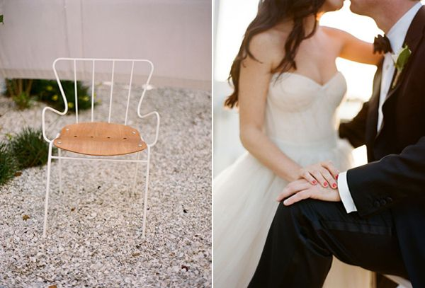 Miami Modern Seaside Beach Wedding Ideas Vera Wang Bow Wedding Dress