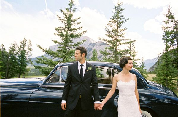 rustic-mountainside-wedding-banff-lake-bride-dress