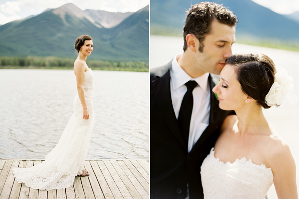 rustic-mountainside-wedding-banff-lake-couple
