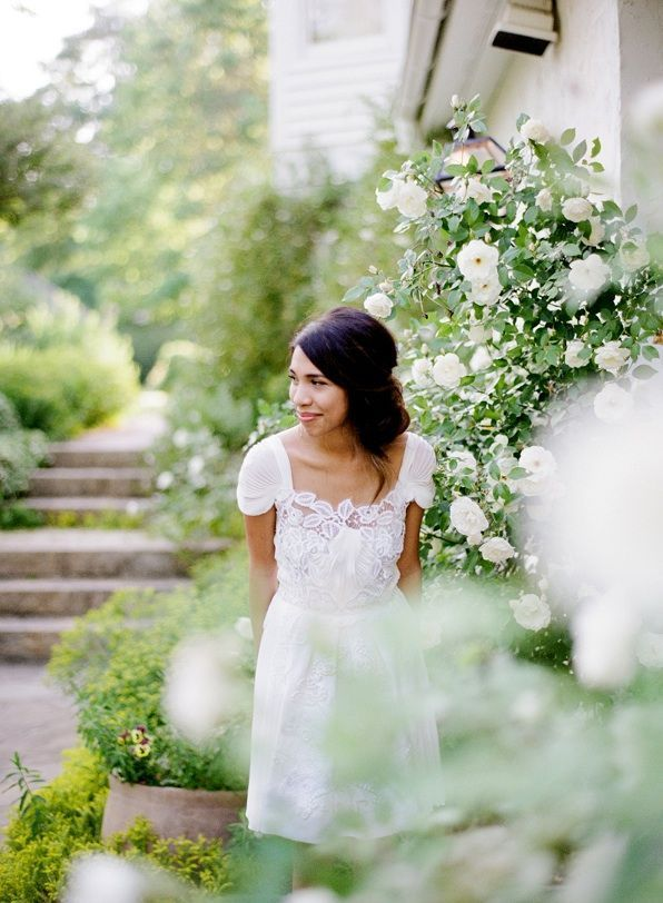 Spring Garden Wedding Alberta Ferretti Dress