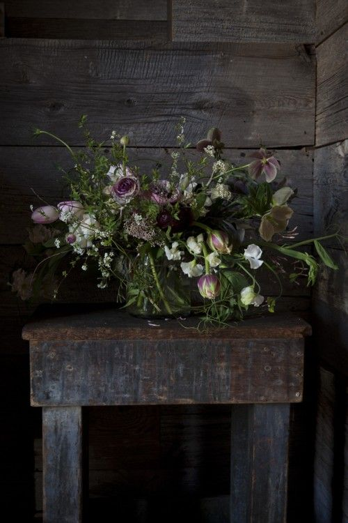 Black, Urban, Earthy Wedding Flowers