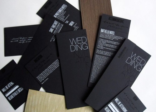 Black, Urban, Earthy Wedding Invitations