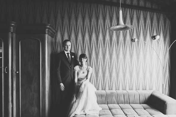 Bride Groom New Zeland Indoor Portrait Reception