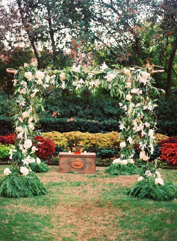 Ceremony Decoration White Flower Alter Backdrop