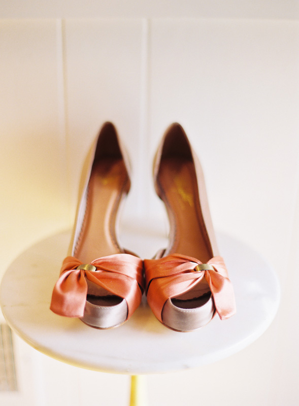 Coral Wedding Shoes Pink Heels