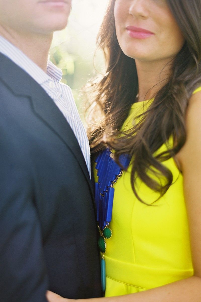 Engagement Photos Tennessee Yellow Blue Dress