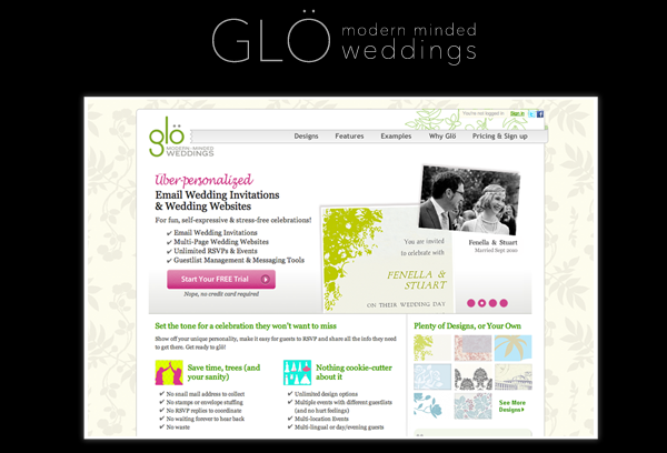 Glow Wedding Websites 01