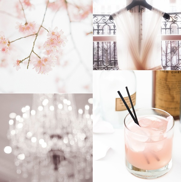 Light Pink Wedding Ideas Inspiration Reception Decoration Cocktail Drinks Bridesmaid Dress
