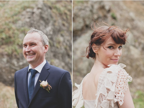 new-zealand-cliffs-wedding-groom-boutonniere-bride-lace-dress2