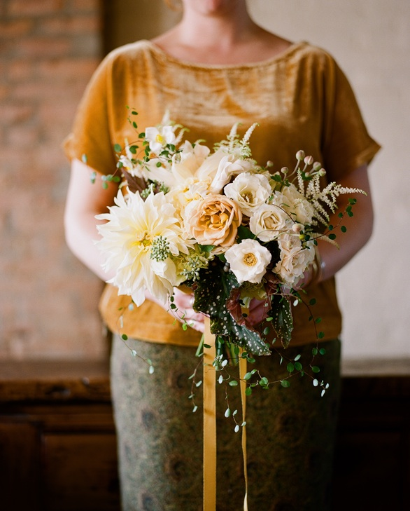 Nicolette Camille Flowers Wedding Bouquet Yellow White Pink