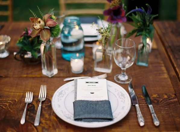 Place Setting Menu Card Reception Decor
