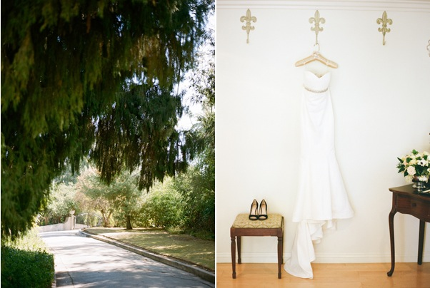Santa Monica Wedding Nicole Miller Dress