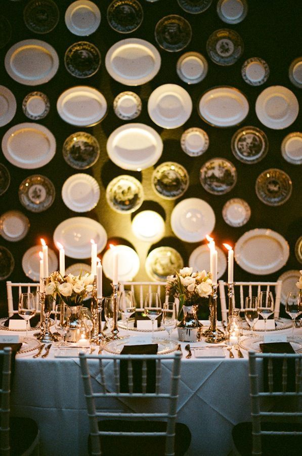 Santa Monica Wedding Reception The Viceroy Silver Tablescape