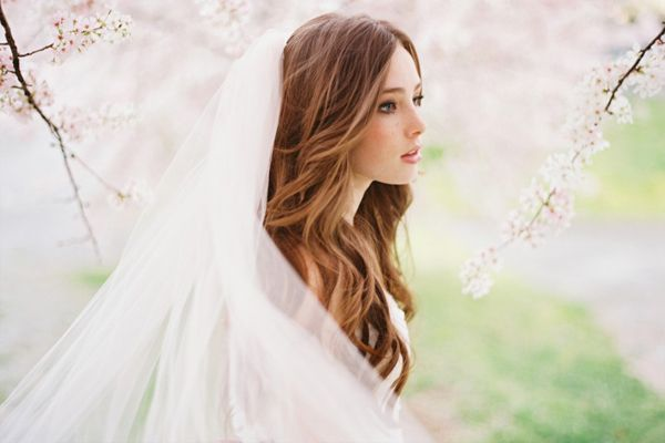 Wedding Veil Natural Wavy Hairstyles For Long
