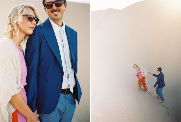 Desert Engagement Photos In the Dunes