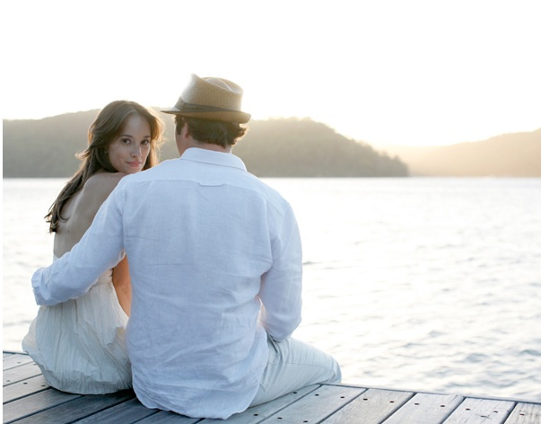 Bay Cottage Wedding Lake Mountains Dock Bride Groom