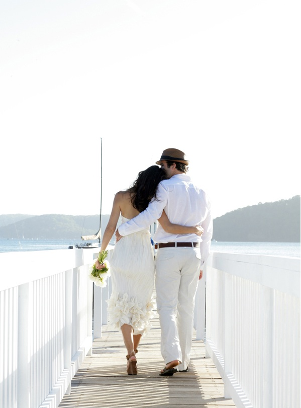 Bay Cottage Wedding Lake Mountains Natural Clean Elegant