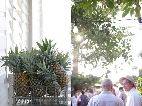 Bay Cottage Wedding Reception Pineapple