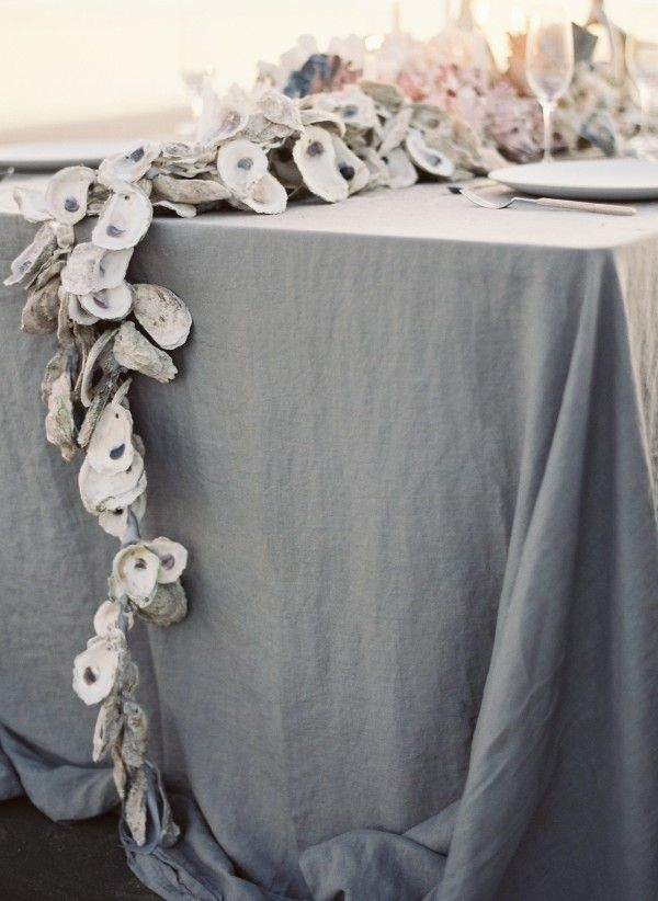 DIY Oyster Shell Garland