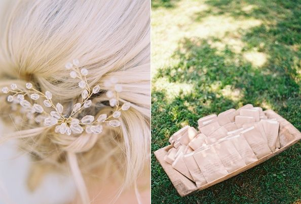 Bridal Hair Accessories Updo Programs Paper Goods