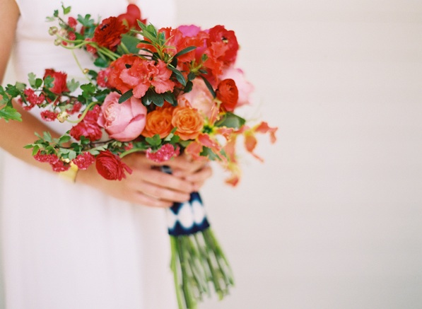 A chic rustic wedding once wed for Bright wedding bouquet
