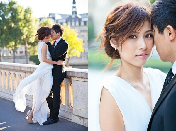 Chiffon Low Bun Backless Wedding Dress