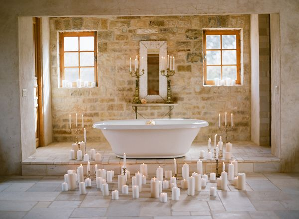 Elopement With A Carefree Spirit Bathtub Candles Intimate
