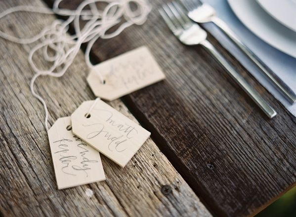 Escort Cards Name Cards Wooden Calligraphy Tags