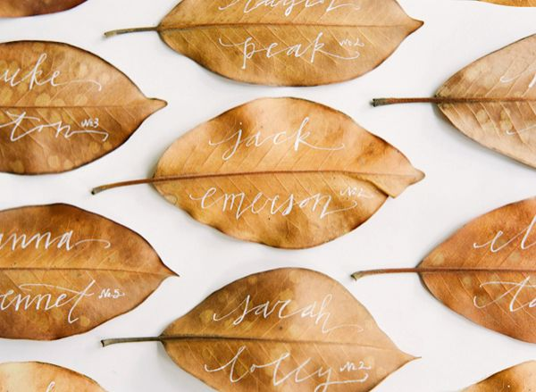 Fall Wedding Escort Cards - Once Wed