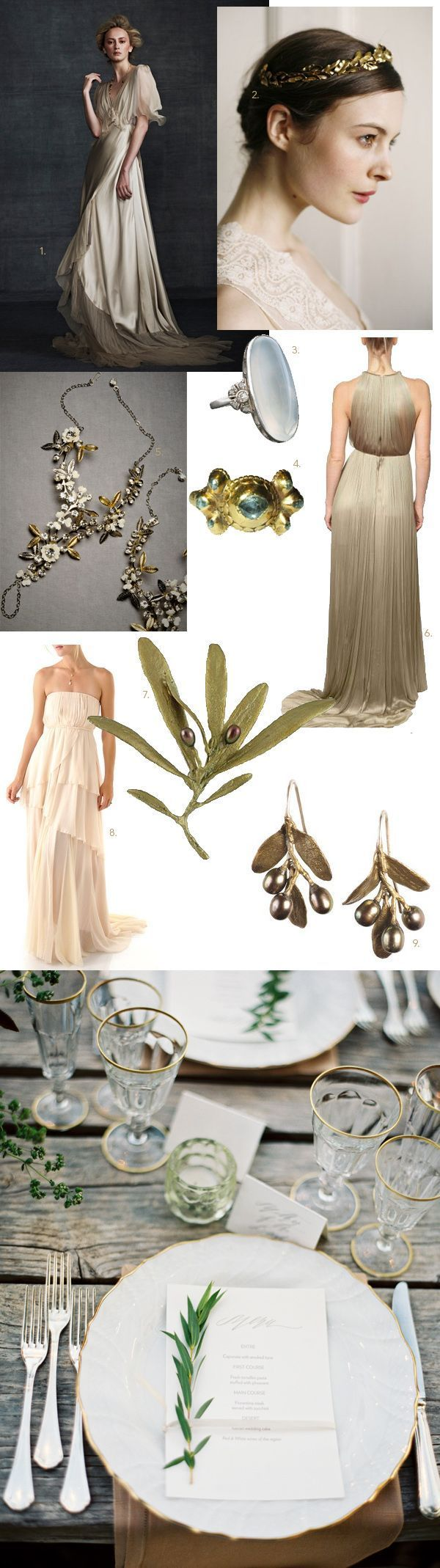 Greek Goddess Wedding Roundup