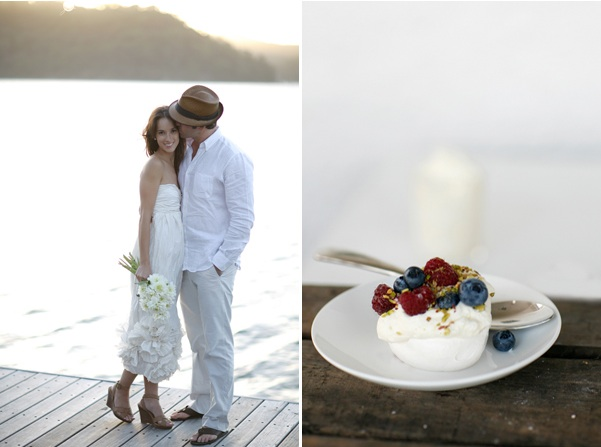 Lakeside Wedding Ceremony Dessert Decor