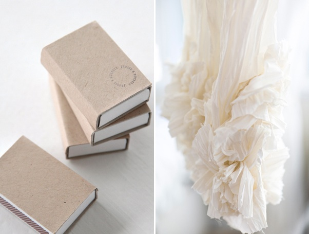 Matchbook Wedding Favors Handmade Wedding Dress