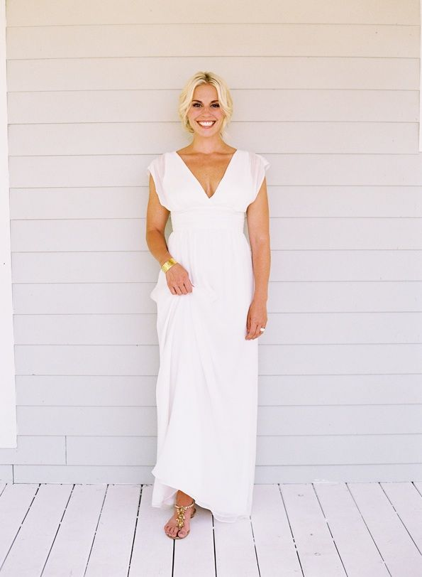 Nashville Countryside Wedding Bride Casual Wedding Dress