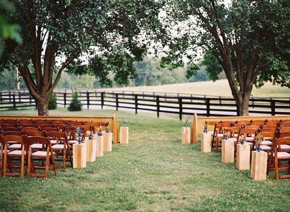Outdoor Wedding Ceremony Nashville Countryside