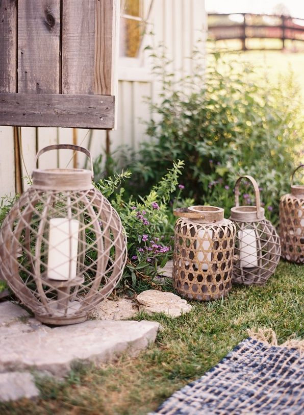 A chic rustic wedding part ii once wed for Outdoor wedding decorating ideas