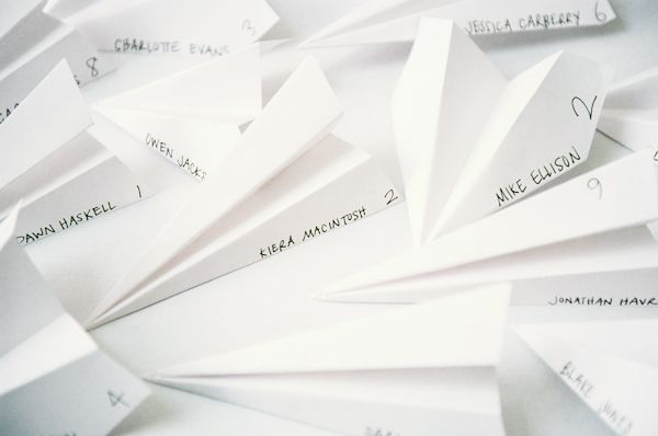 DIY Paper Airplane Escort Cards