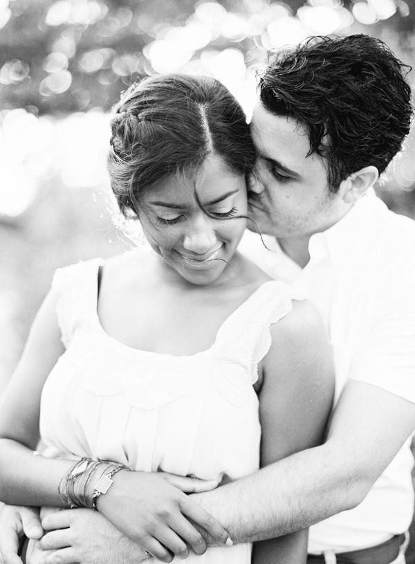 Tuscany Inspired Engagement Black And White Meadow Fresh