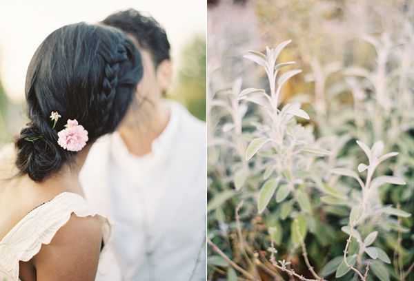 Tuscany Inspired Engagement Fresh Meadow Kiss Hair Accessories