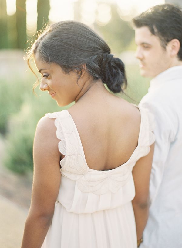 Tuscany Inspired Engagement White Engagement Dress Style
