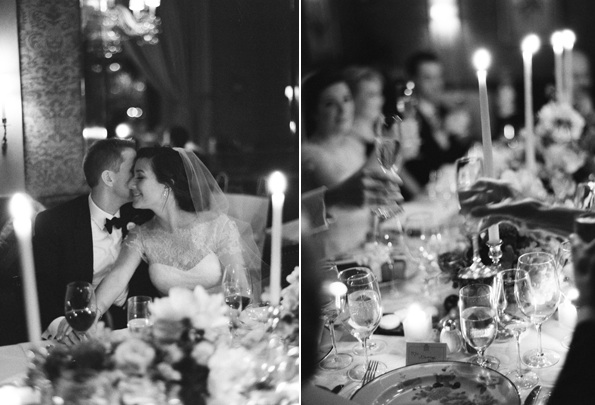 Black And White Wedding Indoor Reception Dinner Decor